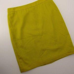 Cabi mustard yellow lined pencil skirt